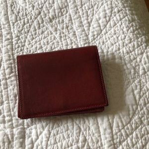 Zara Deep red leather wallet